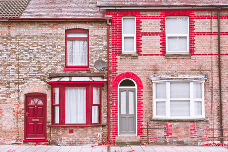 town houses: Adjoining victorian town houses in Bury St Edmunds, UK