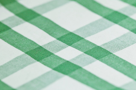 Green and white checked cotton pattern photo