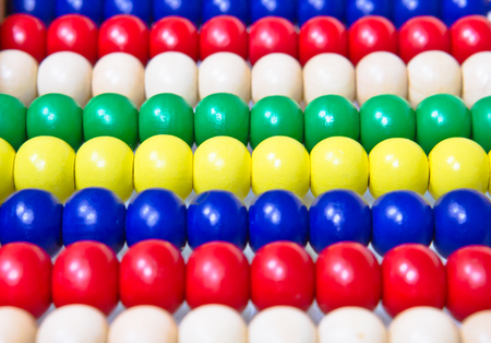 regimented: Wooden beads on an abacus as a background image