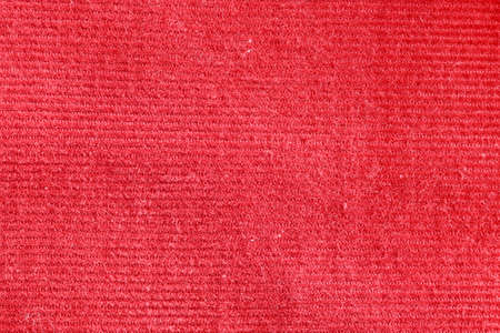 corduroy: Red corduroy fabric as a background image Stock Photo