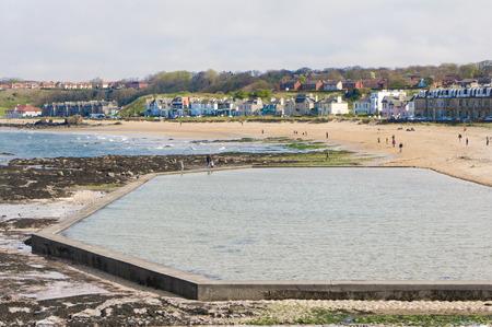 salt water: Salt water lido on the beach at North Berwick, Scotland