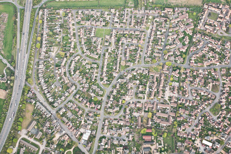 and the area: Residential area in Godmanchester, England