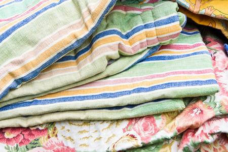 jumble: Second hand textiles on sale at a flea market