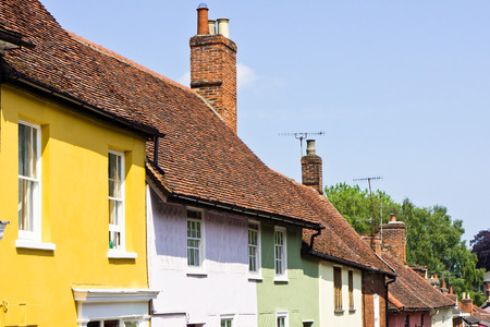 Vibrant town houses in Woodbridge, Suffolk photo