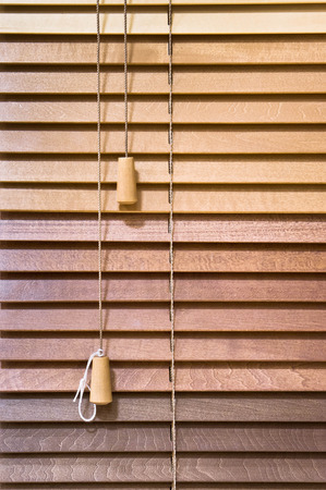 Wooden venetian blind as a background Stock Photo