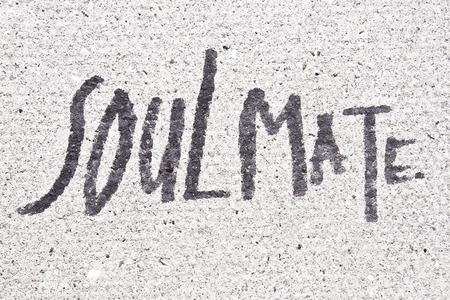 soulmate: Soulmate written on a stone surface