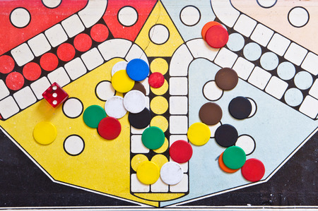 Part of an old fashioned board game