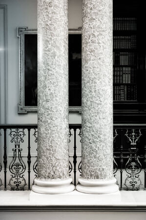 stately home: Large marble pillars in a stately home