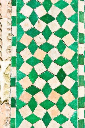 ���wall tiles���: Green and white wall tiles as a background Stock Photo
