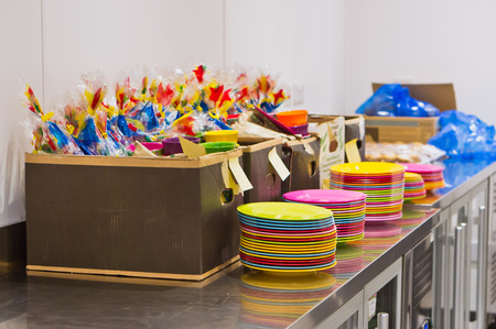 goodie: Preparation for a childrens party Stock Photo