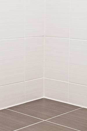 Floor and wall tiles in a modern bathroom