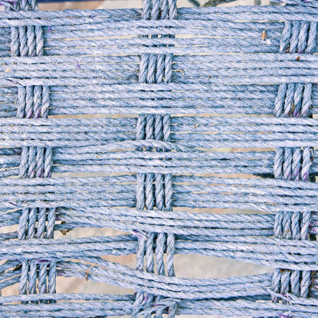fibres: Close up of part of a surface made of intertwining rope fibres Stock Photo
