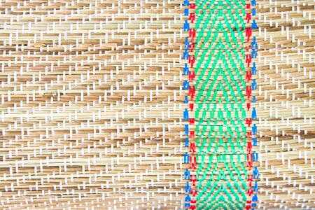 straw mat: Close up of part of a straw mat