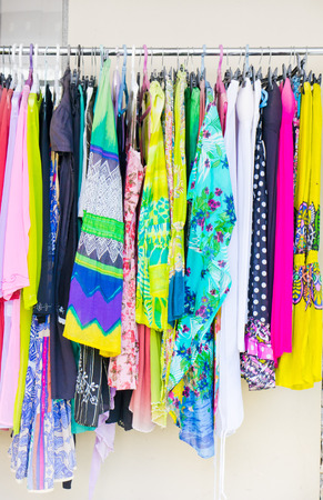 blouses: Colorful womens tops for sale at a stall