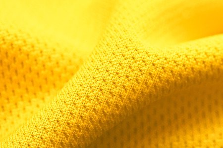 Close up of yellow polyester fabric Stock Photo