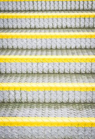 bannister: Metal steps as a background image Stock Photo