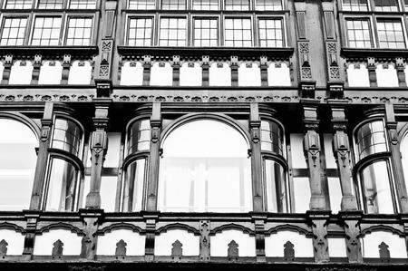 tudor: Tudor style timber building detail