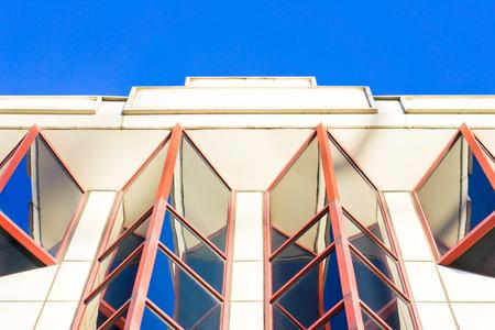 garish: Part of an art deco building in the UK