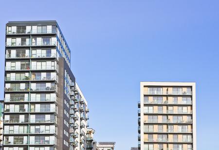 apartment blocks: Modern apartment blocks in the UK Stock Photo