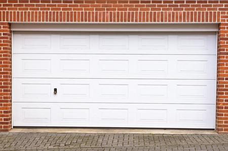 A large garage door in a home Archivio Fotografico