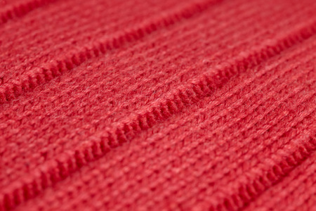 knitwear: Close up of red wool knitwear Stock Photo