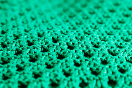 Close up of green wool material Stok Fotoğraf