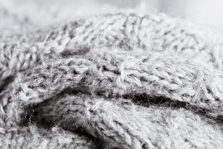 knitwear: Grey wool knitwear as a detailed abstract Stock Photo