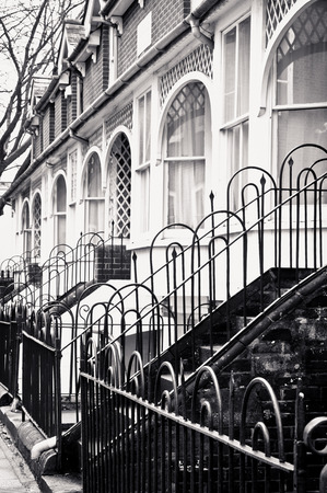 winchester: A row of town houses in Winchester, UK Stock Photo