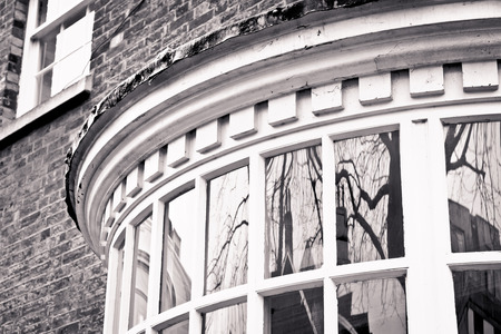 english house: Part of a large bay window in an english house