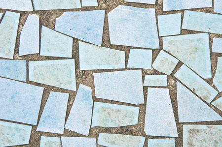 trencadis: Blue tiles as a background image Stock Photo