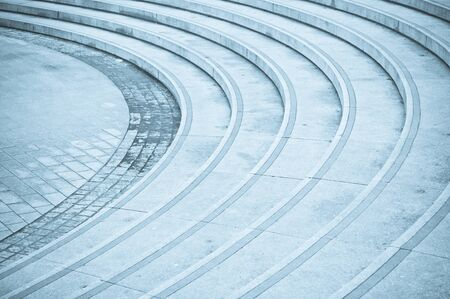 concrete steps: Curved concrete steps as an abstract image