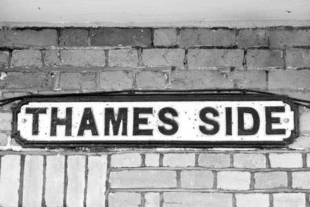 street name sign: Street name sign in Windsor, UK