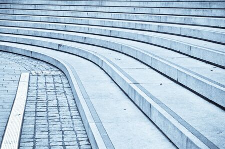 concrete steps: Curved concrete steps as an abstract Stock Photo