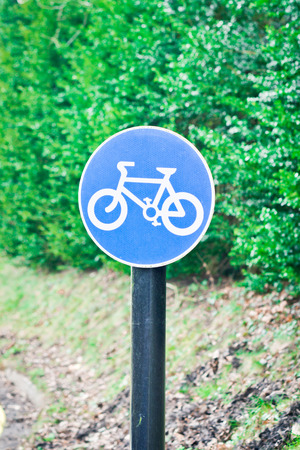 rural road: Sign for a cycle route on a rural road