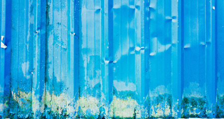 metal corrosion: Blue metal with corrosion at the base Stock Photo