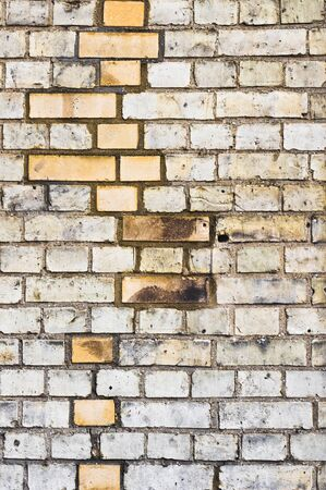 newer: Pattern of newer and older bricks in a wall Stock Photo