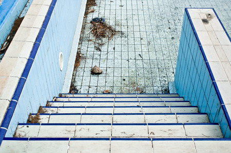 gunk: Part of a derelict swimming pool in Turkey