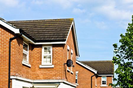 Moderní nově stavět domy v Bury St Edmunds, Velká Británie