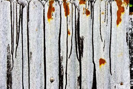 grooved: Part of a sheet of rusty corrugated metal as a background image