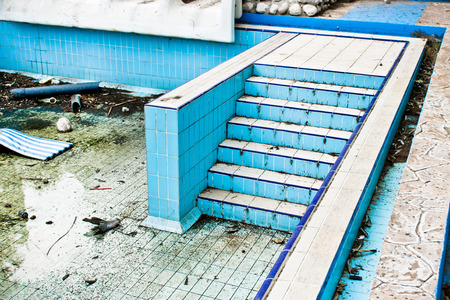 vile: Part of a derelict swimming pool in Turkey