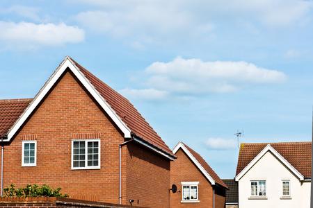 De nouvelles maisons de construction modernes à Bury St Edmunds, Royaume-Uni Banque d'images - 44487080