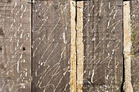 scratched: Scratched wooden panels, as a background image