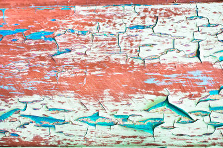 peeling paint: Peeling paint on a  wooden surface, as a background Stock Photo