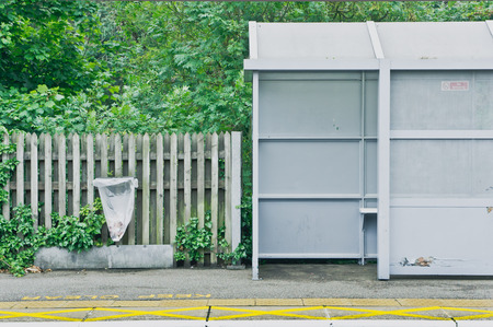 security gap: A covered seating shelter on a railway platform