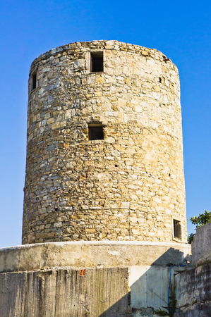 sporades: Part of an old windmill in Alonissos, Greece Stock Photo