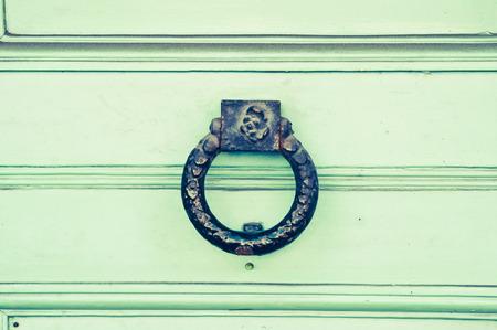 knocker: An antique door knocker