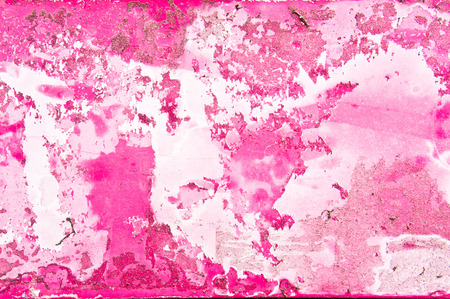 uplift: Peeling paint in shades of red and pink, as a background Stock Photo