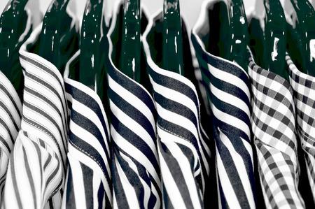 shirts on hangers: Stylish mens shirts hanging on hangers