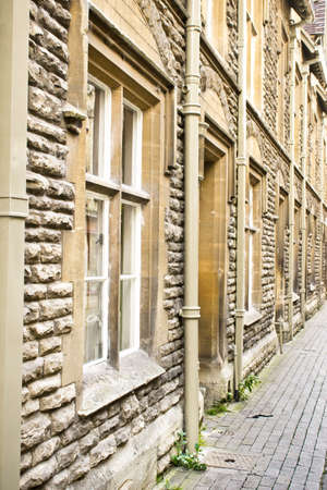 cotswold: A row of terraced houses in Cirencester, UK, made from Cotswold stone