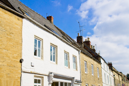 listed buildings: A row of buildings in Cirencester, UK